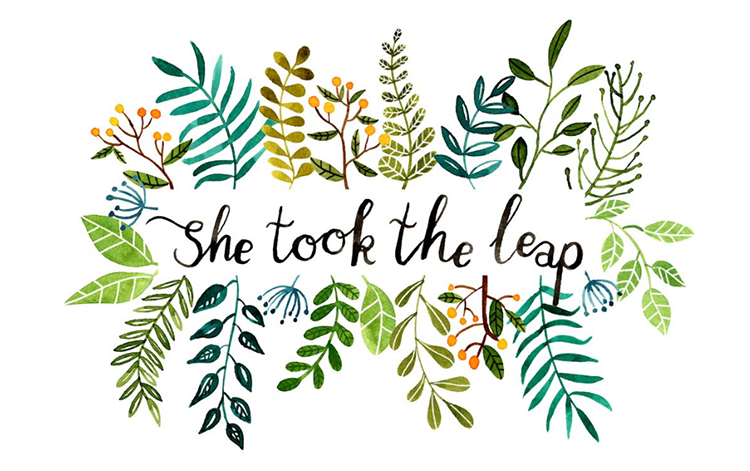 She Took The Leap - Making life a little prettier + greener + happier